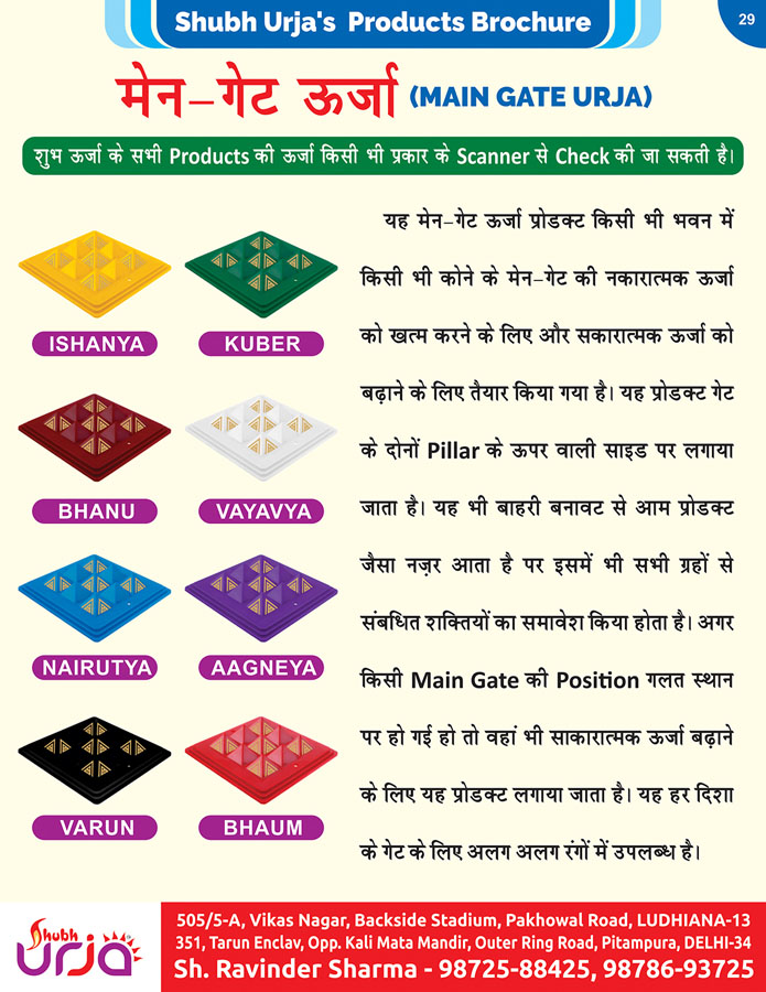 Shubh urja Products